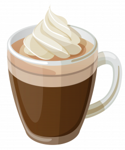Cappuccino clipart cold coffee