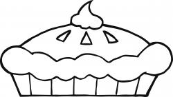 Meringue clipart black and white