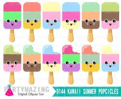 Popsicle clipart kawaii