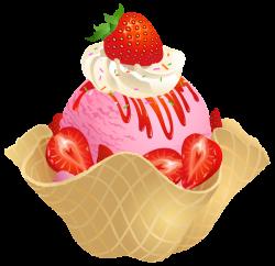 Cream clipart strawberry