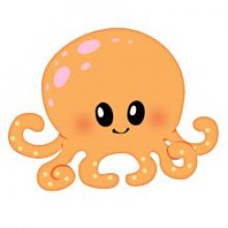 Cute clipart baby octopus
