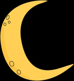 Spooky clipart crescent moon