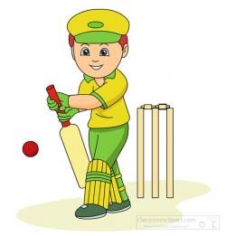 Sport clipart cricket player