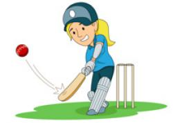Cricket clipart playing