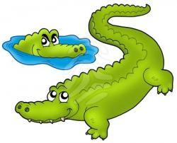 Caiman clipart angry