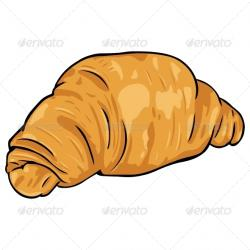 Croissant clipart cartoon