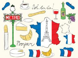 France clipart french croissant