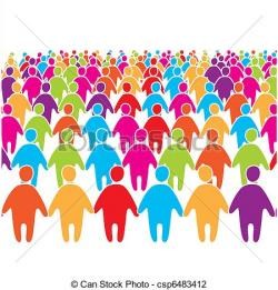 Audience clipart large crowd