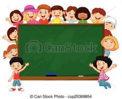 Blackboard clipart childrens
