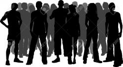 Crowd clipart mass person