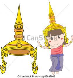 Thai clipart traditional dance