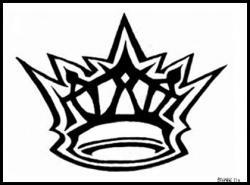 Drawn crown gothic