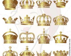 Mauve clipart gold crown