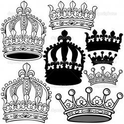Drawn crown heraldic