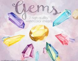 Crystals clipart precious