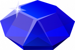 Crystals clipart sapphire