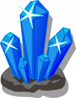 Crystals clipart science