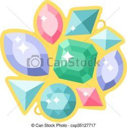 Crystals clipart shiny