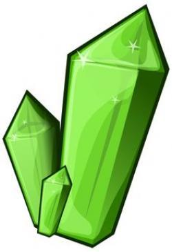 Crystals clipart vector