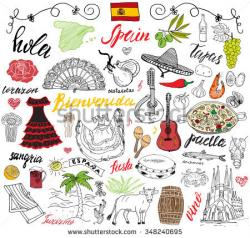 Paella clipart spanish culture