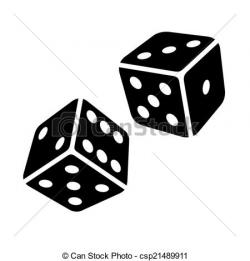 Dice clipart drawn