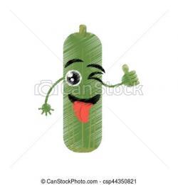 Cucumber clipart face