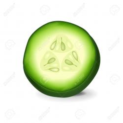 Cucumber clipart sliced