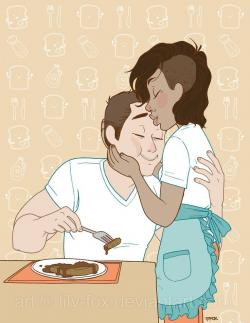 Cuddling clipart interracial couple