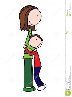 Cuddling clipart madre