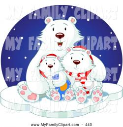 Cuddle clipart polar bear