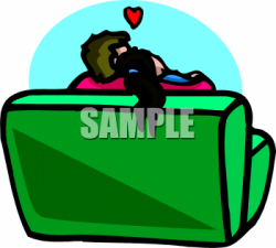 Couple clipart couch