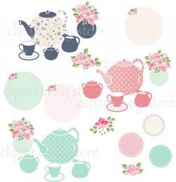 Teapot clipart polka dot