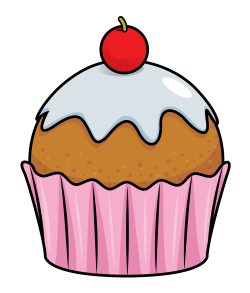 Blueberry Muffin clipart small cake