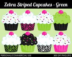 Cupcake clipart animal print