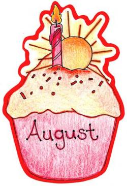 Cupcake clipart august