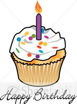 Vanilla Cupcake clipart happy birthday