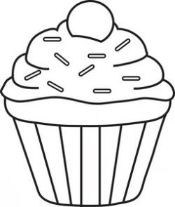 Icing clipart black cupcake