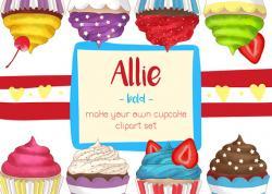 Cupcake clipart bright