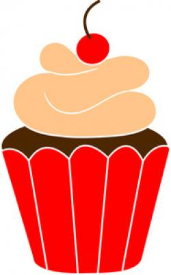 Vanilla Cupcake clipart red cupcake