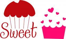 Cupcake clipart february