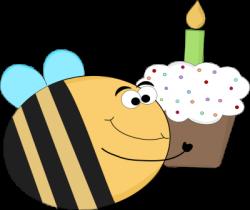 Bees clipart happy birthday