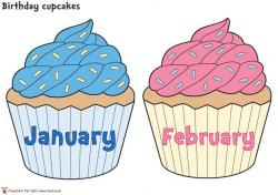 Cupcake clipart january