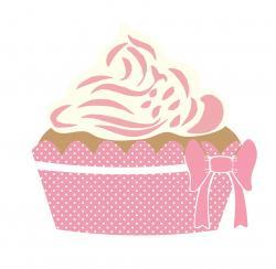 Vanilla Cupcake clipart pink cupcake
