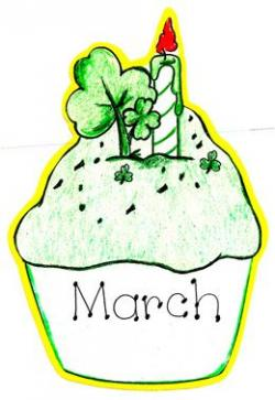 Irish clipart march birthday