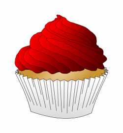Frosting clipart plain cupcake