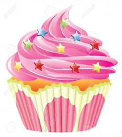 Vanilla Cupcake clipart sprinkle clipart