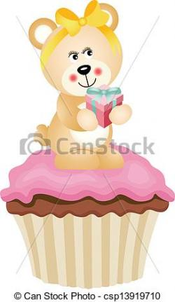 Cupcake clipart teddy bear
