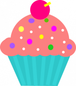 Cupcake clipart turquoise