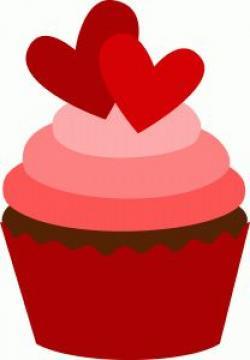 Vanilla Cupcake clipart valentine's day
