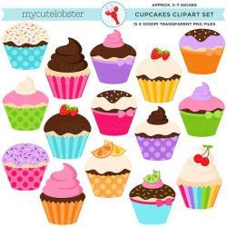 Vanilla Cupcake clipart whimsical